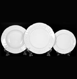 """набор тарелок 18 предметов (19, 23, 25 см) """"бернадотт /платиновый узор"""" / 013421"""