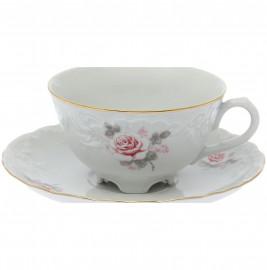 """чайная чашка 220 мл 1 шт """"рококо /серая роза /золото"""" / 111487"""