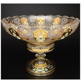 """ваза для фруктов 35 см н/н """"хрусталь с золотом"""" / 044507"""