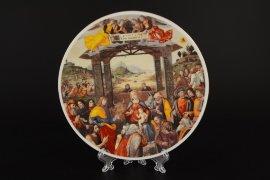 тарелка декоративная 19 см настенная / 053757
