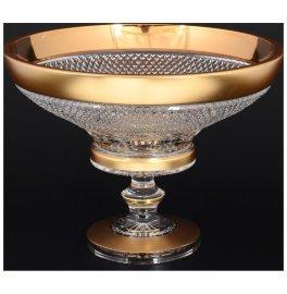 """фруктовница 30 см н/н """"crystal heart /матовое золото"""" / 115881"""