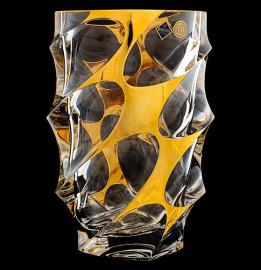 """ваза для цветов 28 см """"calypso /с золотом"""" хрусталь йиглава / 019136"""