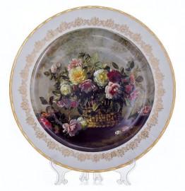 """настенная тарелка 32 см """"цветы 3"""" / 085324"""