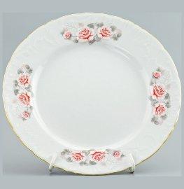 "тарелка 17 см 1 шт ""рококо /серая роза /золото"" / 111483"