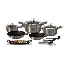 """набор посуды 12 + 2 предмета """"carbon metallic line"""" / 134410"""