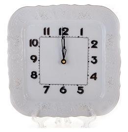 """часы настенные 26 см квадратные """"бернадотт /платиновый узор"""" / 113509"""