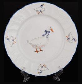 """набор тарелок 17 см 6 шт """"бернадотт /гуси"""" е-м / 088765"""