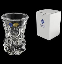 """ваза для цветов 10 см """"glacier /без декора"""" хрусталь йиглава / 105084"""