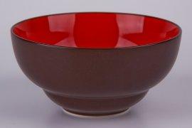 """салатник 14,5 см коричневый, красный внутри """"вехтерсбах"""" / 034595"""