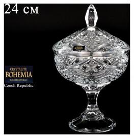"""ваза для конфет 24 см н/н с крышкой """"таурус /без декора"""" / 065672"""