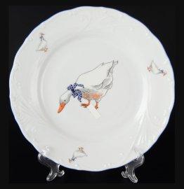 """набор тарелок 19 см 6 шт """"лиана /гуси"""" / 051032"""