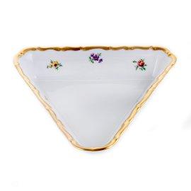 """салатник 18 см треугольный """"анжелика 845 /мелкие цветы"""" / 122566"""