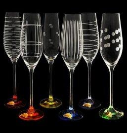 """бокалы для шампанского 210 мл 6 шт """"celebration /разноцветные"""" / 061198"""