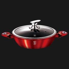 """сковорода 24 см с крышкой """"burgundy metallic line"""" / 131635"""
