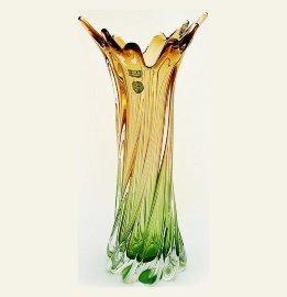 """ваза для цветов 40 см """"прозрачно-зелёно-коричневая"""" / 061224"""