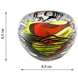 """подсвечник 6,5 х 8,5 см """"красно-жёлтый"""" / 068593"""