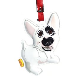 "кожаный брелок на сумку ""english bull terrier"" / 144003"