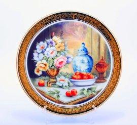 """тарелка настенная 33 см """"цветы /1521"""" / 002177"""