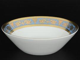 """набор салатников 19 см 6 шт """"констанц /императорское золото /на голубом"""" / 056171"""