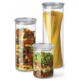 """набор контейнеров для хранения 3 предмета (0,5 л + 0,8 л + 1,4 л) с пластиковыми крышками """"simax"""" / 135925"""