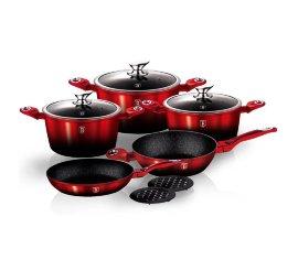 """набор посуды 10 предметов """"black-burgundy metallic line"""" / 134345"""