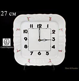 """часы настенные 26 см квадратные """"бернадотт /полевой цветок"""" / 062167"""