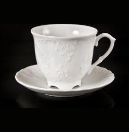 """набор кофейных пар 170 мл 6 шт """"рококо /без декора"""" (блюдце 12,5 см) / 111572"""