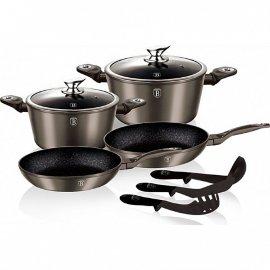 """набор посуды 9 предметов """"carbon metallic line"""" / 128552"""