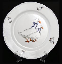 "тарелка 24 см 1 шт ""констанция /гуси"" / 119703"