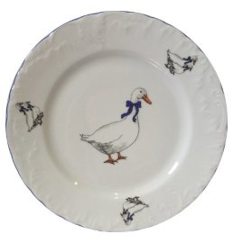 """тарелка 17 см 1 шт """"рококо /гуси"""" / 109912"""