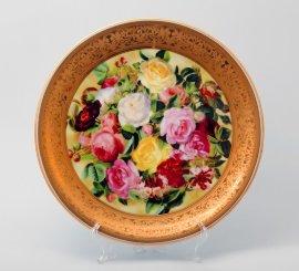 """тарелка настенная 33 см """"цветы /1493"""" / 002175"""