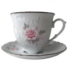 """кофейная пара 170 мл 1 шт """"рококо /серая роза /платина"""" / 109861"""