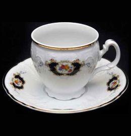 """набор чайных пар 240 мл 6 шт высокие н/н """"бернадотт /синеглазка"""" / 006171"""