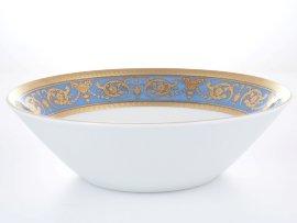 """салатник 24 см """"констанц /императорское золото /на голубом"""" / 146485"""