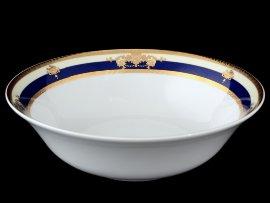 """салатник 25 см """"яна /синяя полоса с золотым вензелем"""" / 056363"""
