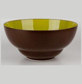 """салатник 28 см коричневый, зелёный внутри """"вехтерсбах"""" / 034605"""