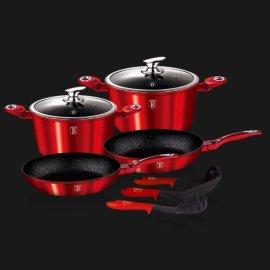 """набор посуды 9 предметов """"burgundy metallic line"""" / 134357"""