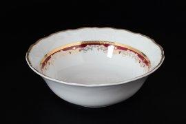 """набор салатников 19 см 6 шт """"мария-луиза /лилии на красном"""" / 122402"""