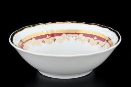 """набор салатников 13 см 6 шт  """"мария-луиза /лилии на красном"""" / 056428"""