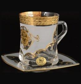 """набор чайных пар 270 мл 6 шт низкие """"богемия /антик золото"""" u-r / 092172"""