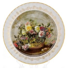 """настенная тарелка 32 см """"цветы 4"""" / 085325"""