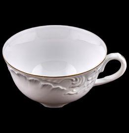 """чайная чашка 220 мл 1 шт """"рококо /отводка золото""""  / 109982"""