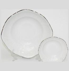 """набор салатников 7 предметов (23 см х 1 шт, 13 см х 6 шт) """"бернадотт /платиновый узор"""" / 068040"""