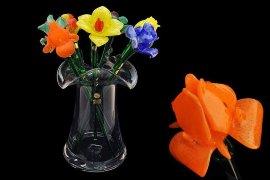 цветок стеклянный 50 см /тюльпан оранжевый / 061260