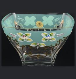 """ваза для конфет 18 см """"лепка зелёная"""" u-r / 097896"""