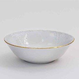 """набор салатников 19 см 6 шт """"лиана /золотая отводка"""" / 050991"""