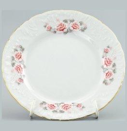 "тарелка 19 см 1 шт ""рококо /серая роза /золото"" / 109846"