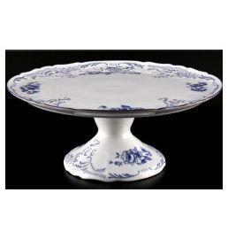 """тортница 32 см н/н """"бернадотт /синие розы"""" / 030458"""