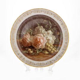 """настенная тарелка 32 см """"цветы 10"""" / 087892"""