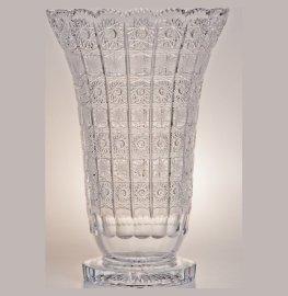 """ваза для цветов 35 см """"хрусталь резной"""" / 006594"""
